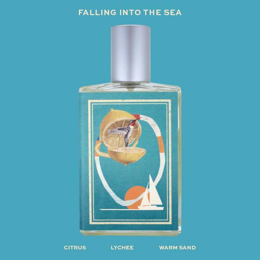 imaginary authors falling into the sea